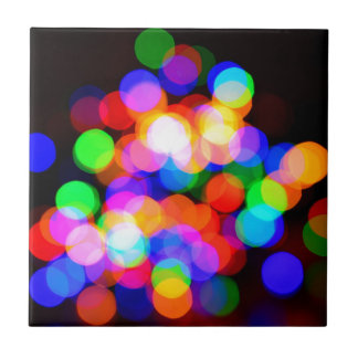 Colorful blurred lights tile