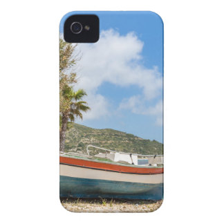 Colorful boat lying on greek beach Case-Mate iPhone 4 cases