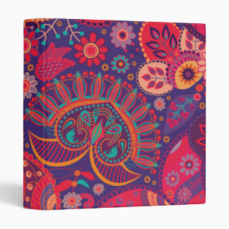 Colorful Bohemian Boho MOD Hippy Chic Pattern Vinyl Binder