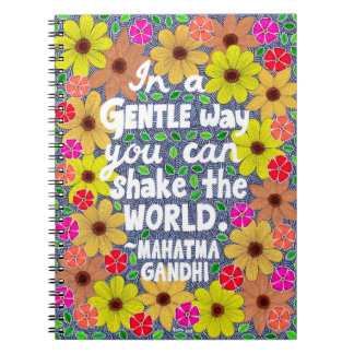 Colorful Bohemian Typography Quote Doodle Notebook