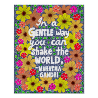 Colorful Bohemian Typography Quote Doodle Poster