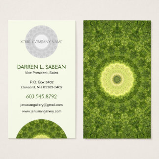 Colorful Boho Evergreen Mandala Business Card