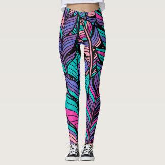 Colorful Boho Style Women's Leggings