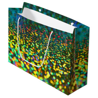 Colorful Bokeh Large Gift Bag