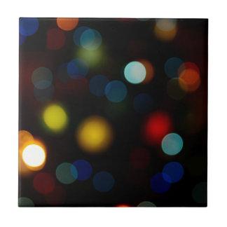 Colorful bokeh lights design tile