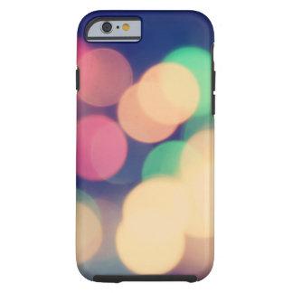 Colorful bokeh lights illustration tough iPhone 6 case