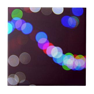 Colorful bokeh lights tile