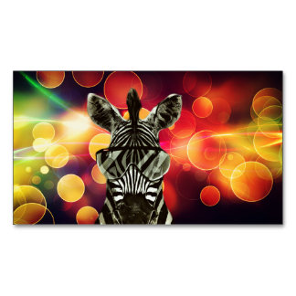 Colorful Bokeh Stylle Business Card Magnet