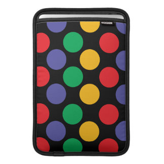 Colorful Bold Multicolored Polka Dot Pattern Sleeve For MacBook Air