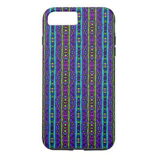 Colorful bold tribal Aztec geo funky design iPhone 7 Plus Case