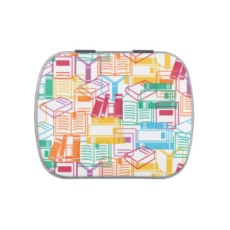 Colorful books binders pattern