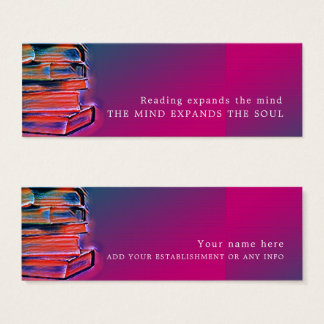 Colorful Books, Bookmark Mini Business Card