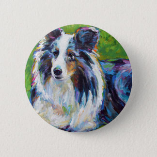 Colorful BORDER COLLIE 2 Inch Round Button