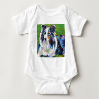 Colorful BORDER COLLIE Baby Bodysuit