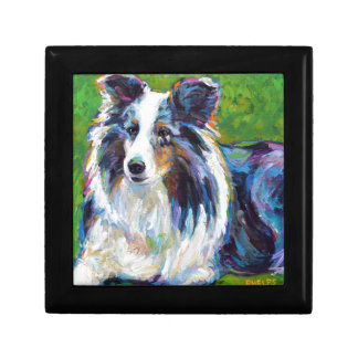 Colorful BORDER COLLIE Gift Box