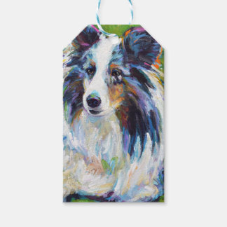 Colorful BORDER COLLIE Gift Tags