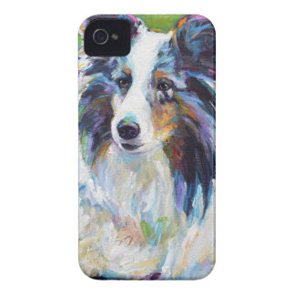 Colorful BORDER COLLIE iPhone 4 Cover