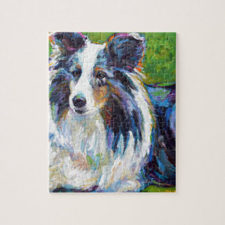 Colorful BORDER COLLIE Jigsaw Puzzle