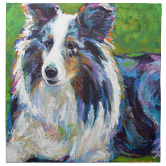 Colorful BORDER COLLIE Napkin