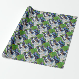 Colorful BORDER COLLIE Wrapping Paper