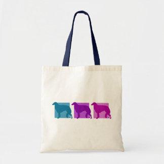 Colorful Borzoi Silhouettes Tote Bag