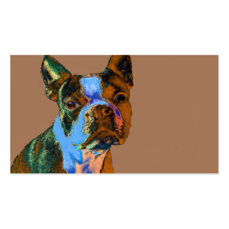 Colorful Boston Terrier Business Card Template