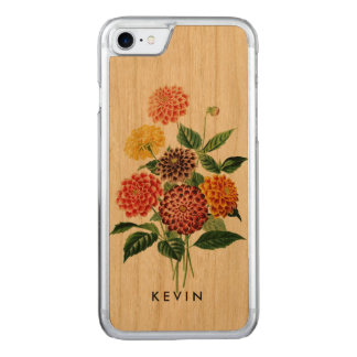 Colorful Botanical Flowers Bouquet Carved iPhone 8/7 Case