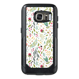 Colorful Botanical Flowers & Leafs Pattern OtterBox Samsung Galaxy S7 Case