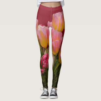 Colorful Bouquet of Tulips Leggings