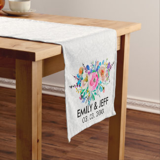 Colorful Bouquet- Save The Date Short Table Runner