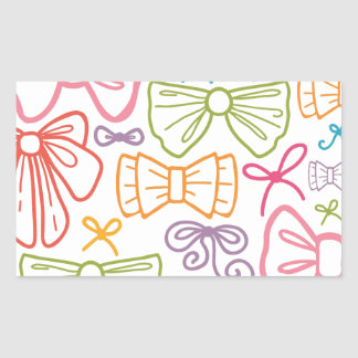 Colorful bows pattern