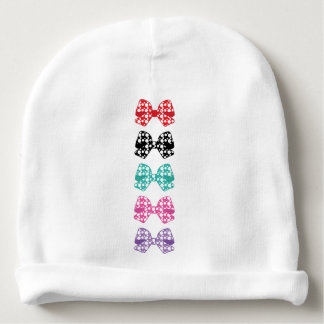 Colorful-Bows White Dots Cool Baby Beanie