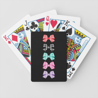 Colorful-Bows White Dots Cool Bicycle Playing Cards