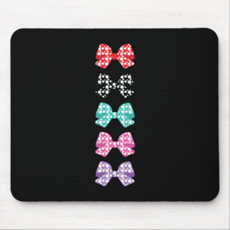 Colorful-Bows White Dots Cool Mouse Pad