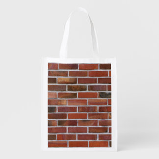 COLORFUL BRICK WALL GROCERY BAGS