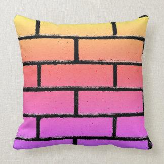 Colorful Brick Wall Pillow