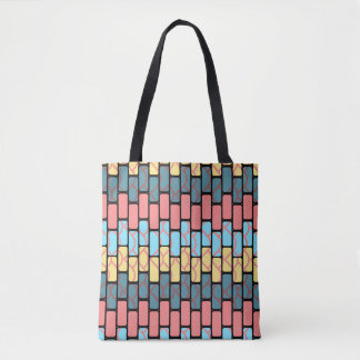 Colorful bricks pattern tote bag
