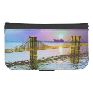 Colorful Bridge Landscape Galaxy S4 Wallet Case