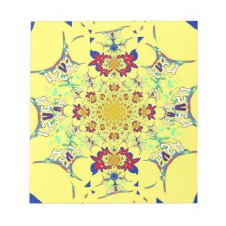 Colorful Bright floral damask design Notepads