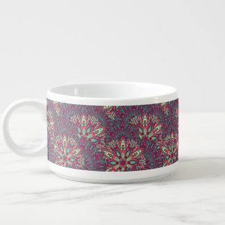 Colorful bright mandala pattern. chili bowl
