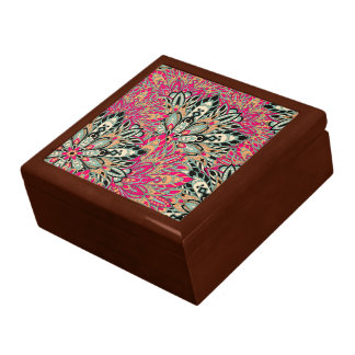 Colorful bright mandala pattern. gift box