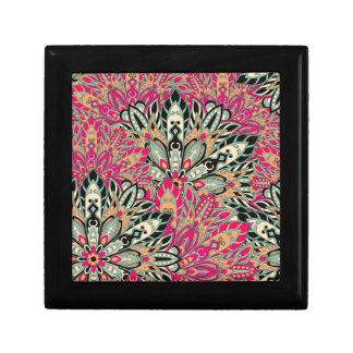 Colorful bright mandala pattern. keepsake box