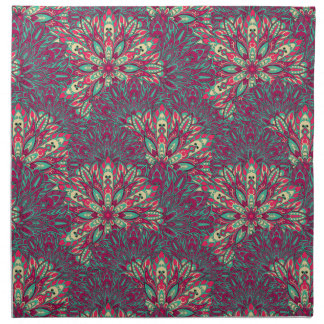 Colorful bright mandala pattern. napkin