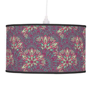 Colorful bright mandala pattern. pendant lamp