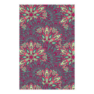 Colorful bright mandala pattern. stationery