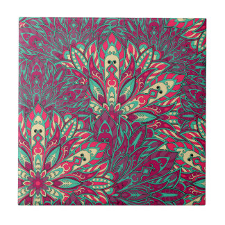 Colorful bright mandala pattern. tile