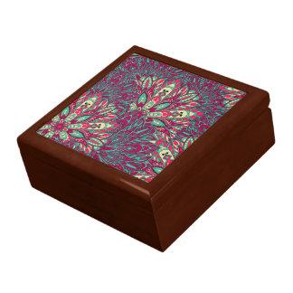 Colorful bright mandala pattern. trinket boxes