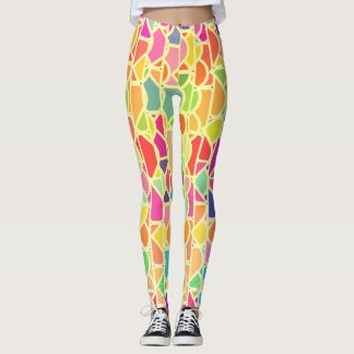 Colorful bright pattern leggings