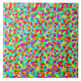Colorful Bright Trendy Pixel Mosaic Pattern Ceramic Tiles