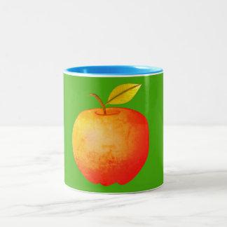 Colorful Bright Vibrant Apple Nature Fresh Bold Two-Tone Coffee Mug